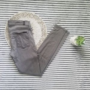 7 For All Mankind Grey Skinny Jeans Size 30